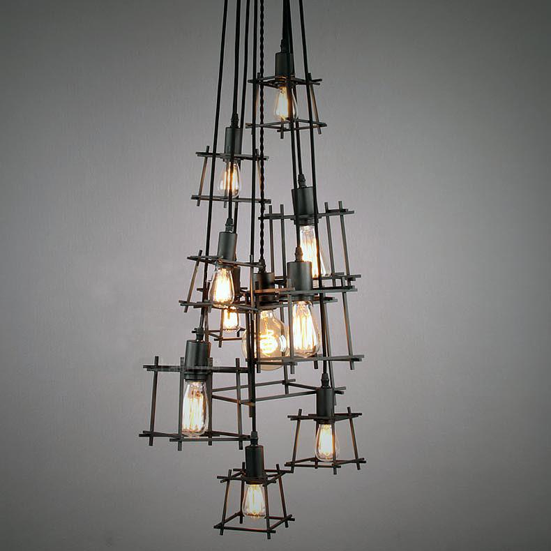 Bismuth Cube Cluster Pendant Light Chandelier