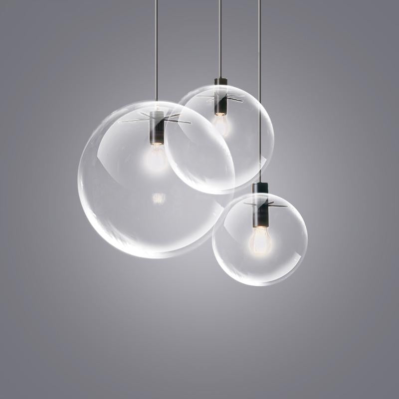 Glass Bubble Lamp Shade Pendant Ceiling Light