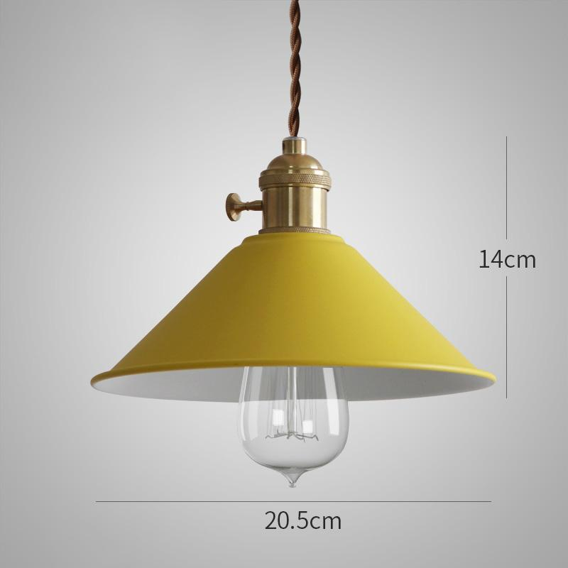 Pastel Colored Cone Shade Industrial Pendant Light