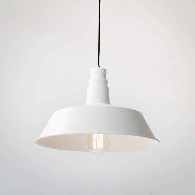 Vintage Industrial Pendant Light In White Color