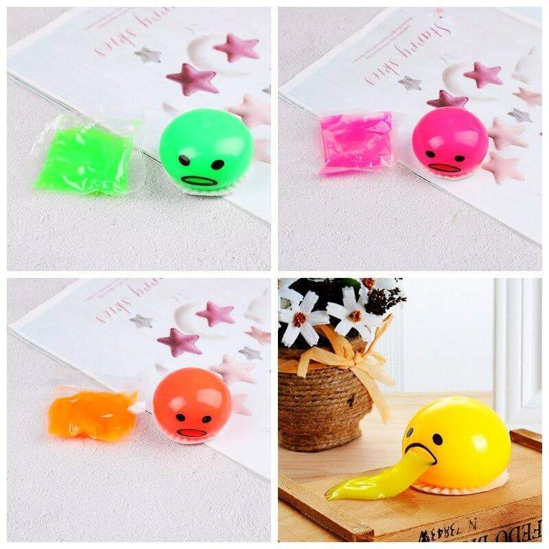 Squishy Puking Egg Yolk Stress Ball With Yellow Goop 2019 US HOT!