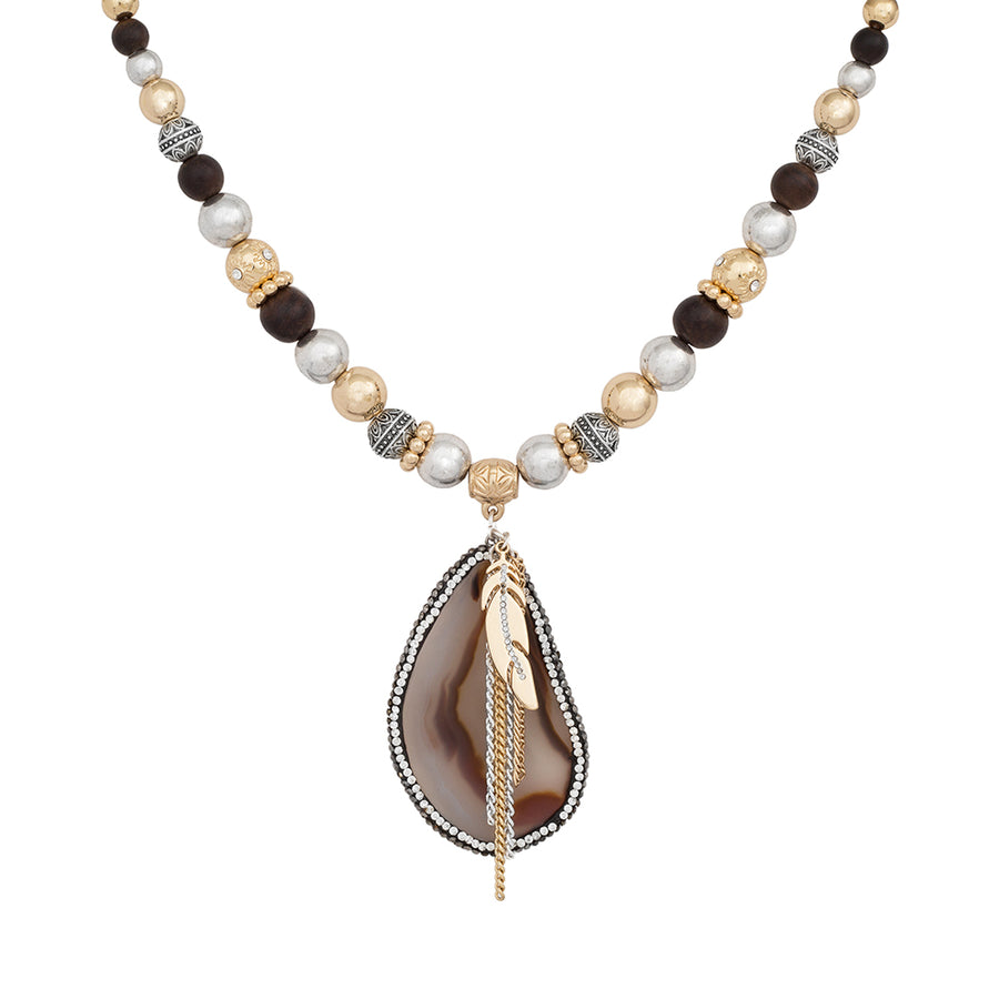 Limited Collection Ella Short Agate Necklace