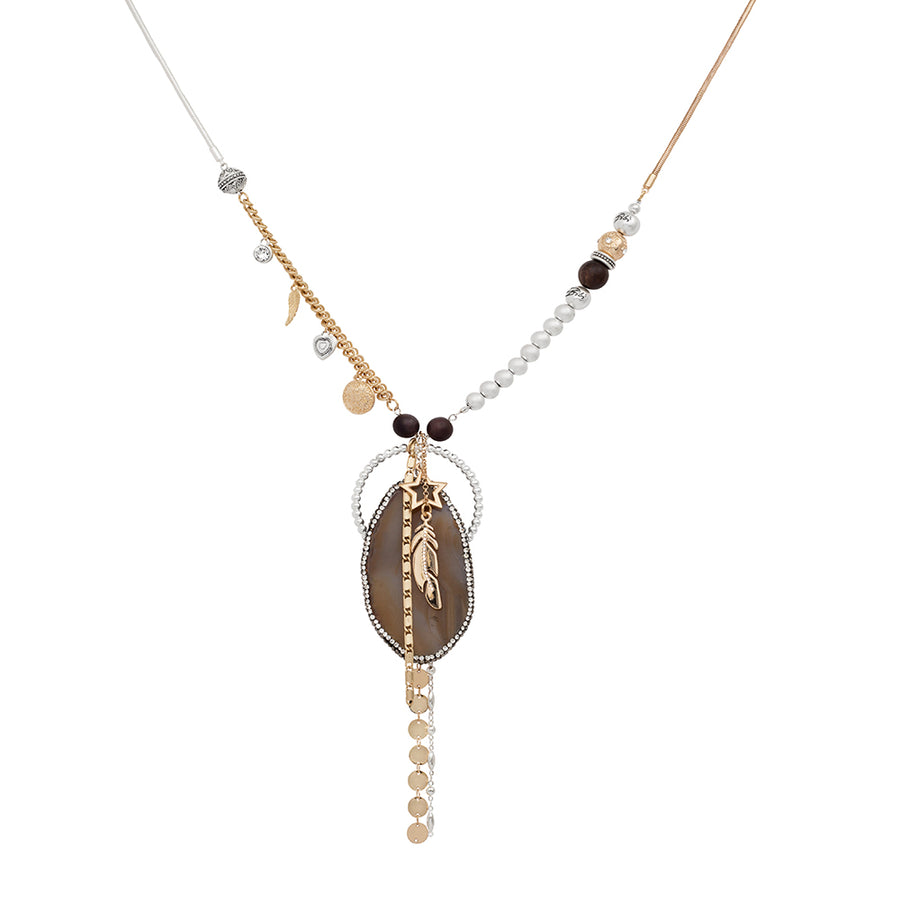 Limited Collection Levi Long Agate Necklace