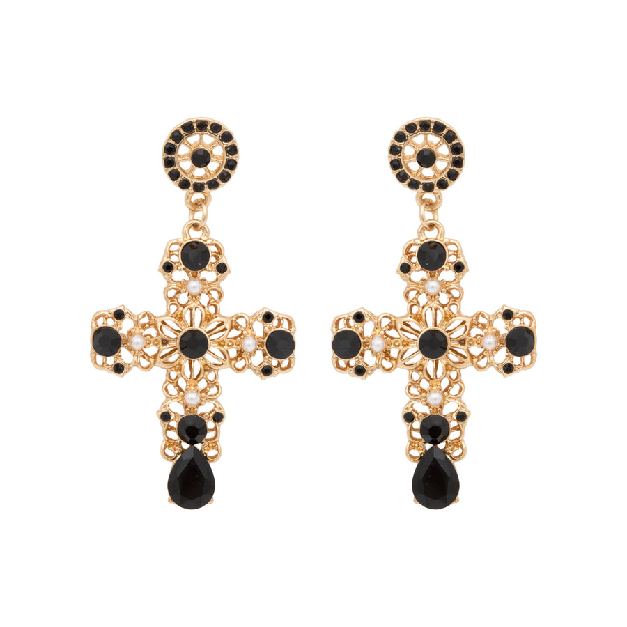 Molly Statement Cross Earrings