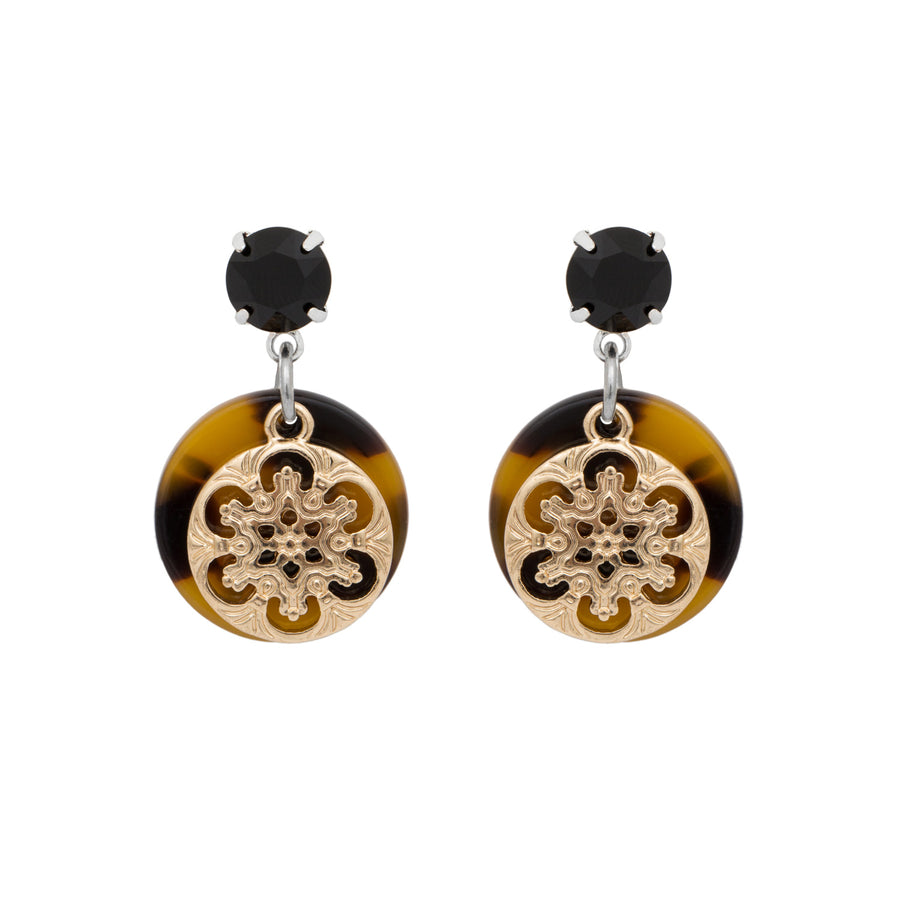 Lyla Tortoiseshell Small Drop Earrings