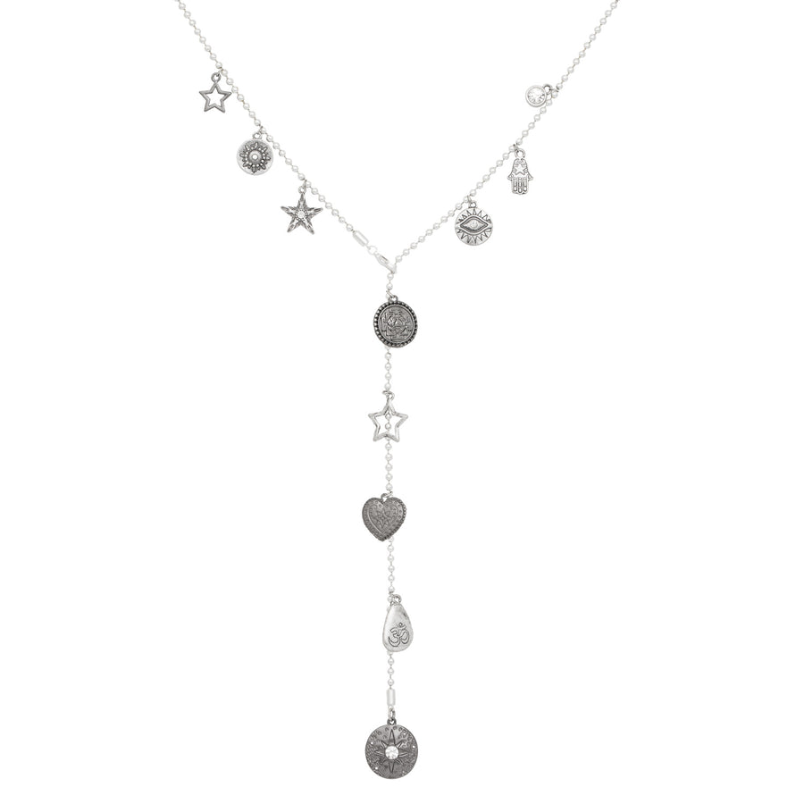 Long Harmonia Goddess Adjustable Lariat Necklace
