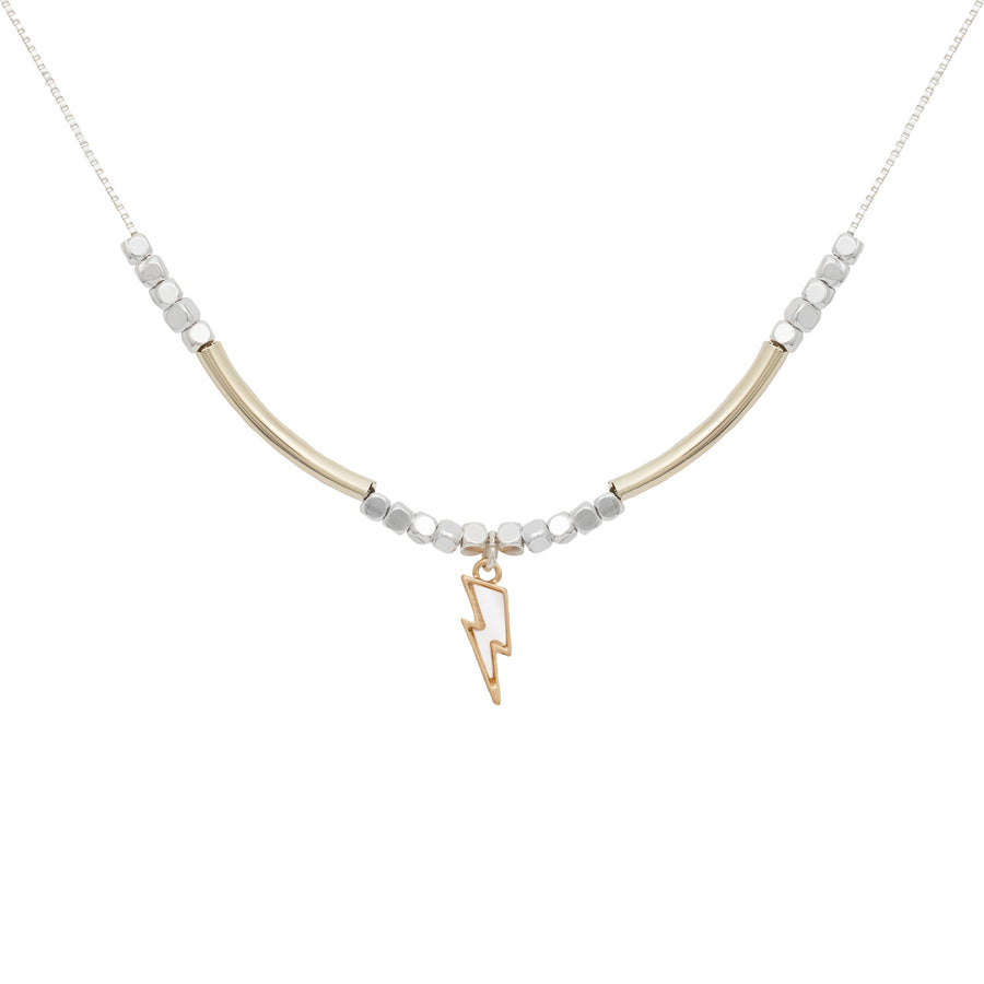 Kate Thornton Gold Lightning Bolt Necklace