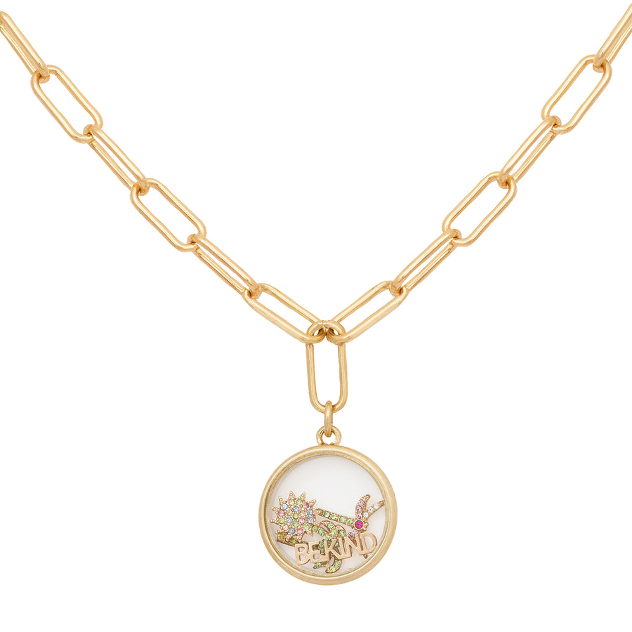 Kate Thornton 'Club Tropicana' Gold Palm Tree Floating Locket Necklace