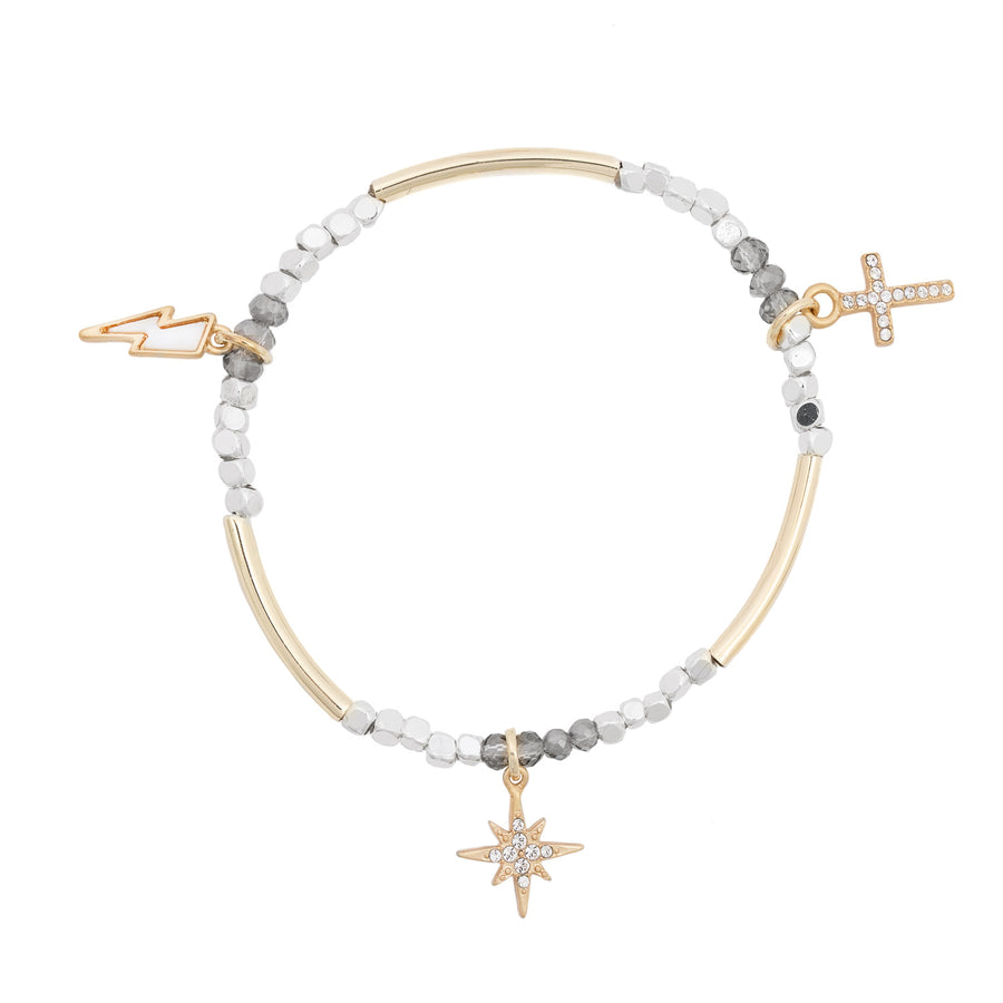 Kate Thornton Gold Stackable Charm Bracelet