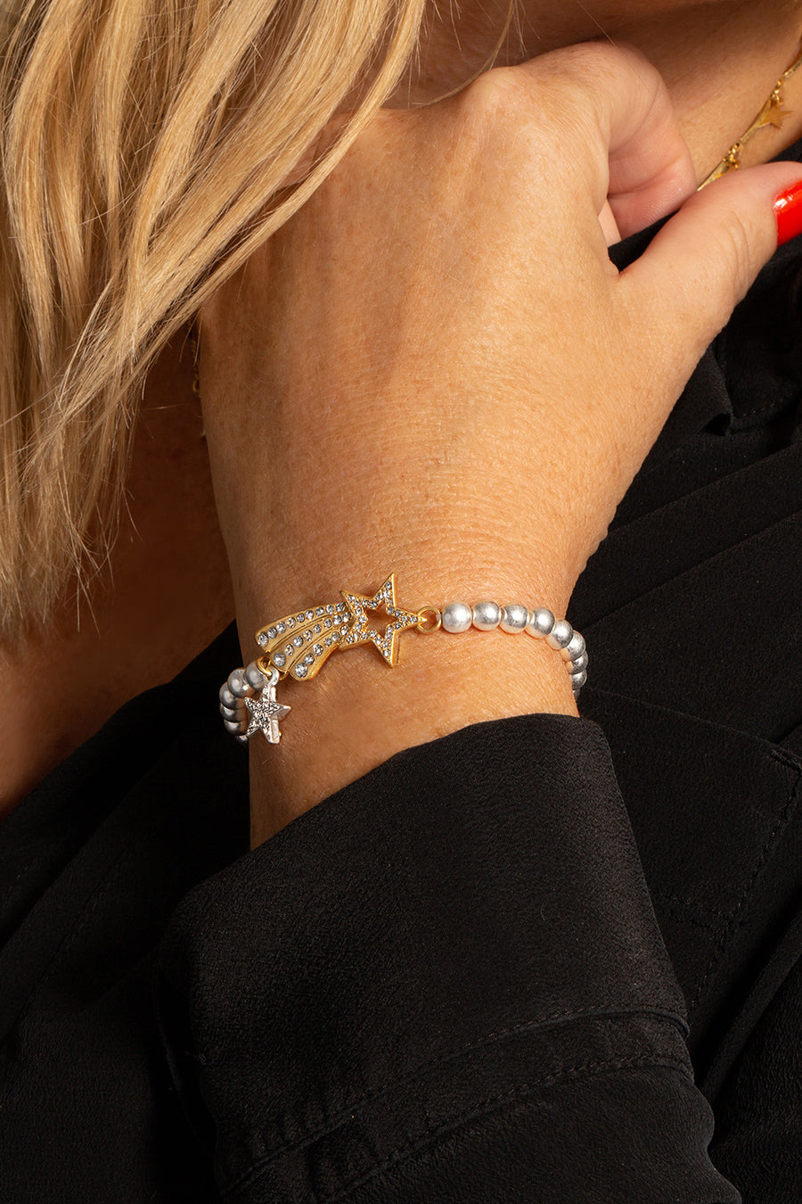 Kate Thornton 'Shooting Star' Gold and Silver Bracelet
