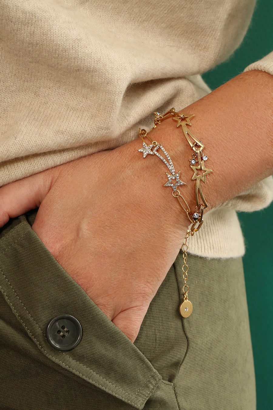 Kate Thornton 'Shooting Stars' Gold Layered Bracelet