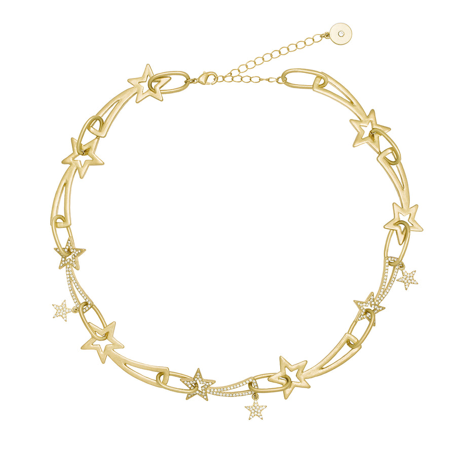 Kate Thornton 'Shooting Stars' Gold Chunky Necklace