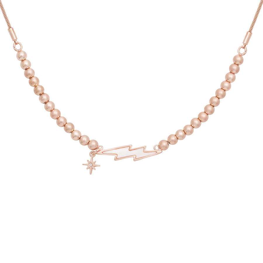 Kate Thornton Rose Gold Lightning Bolt Friendship Necklace