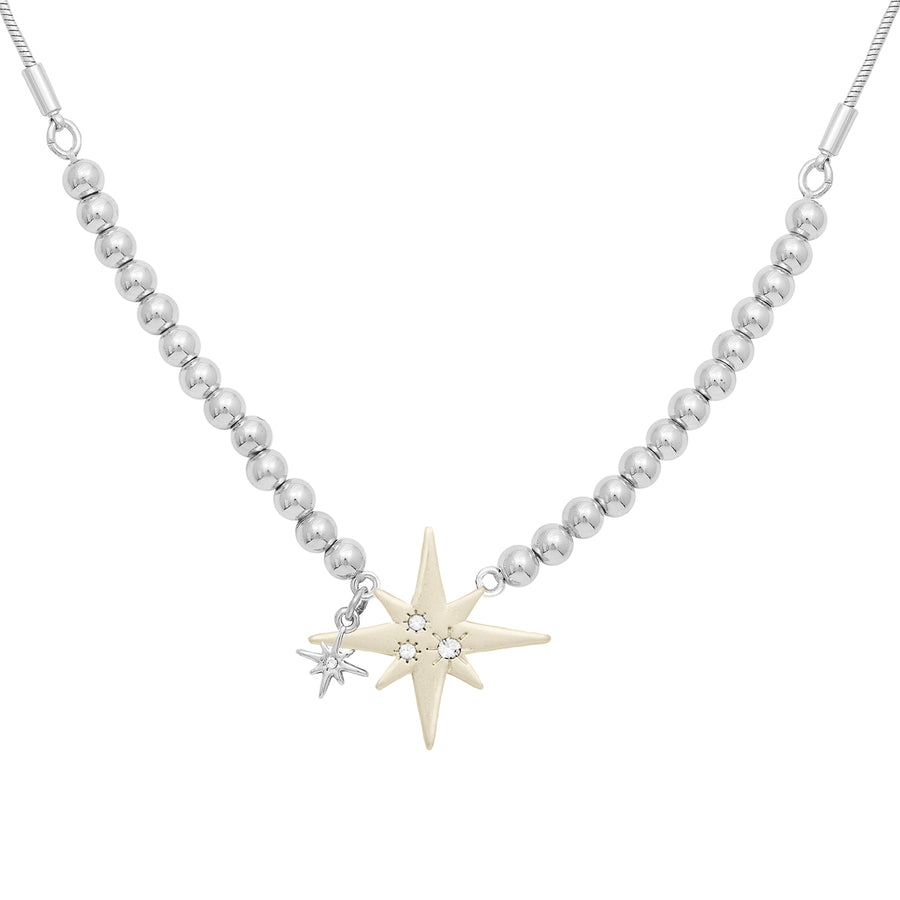 Kate Thornton Silver and Gold Star Friendship Necklace