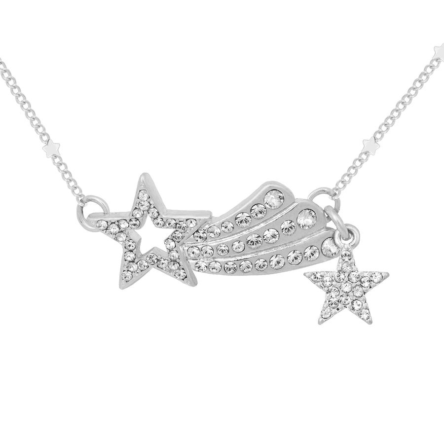 Kate Thornton 'Dancing Stars' and 'Shooting Star' Silver Layered Necklace Set
