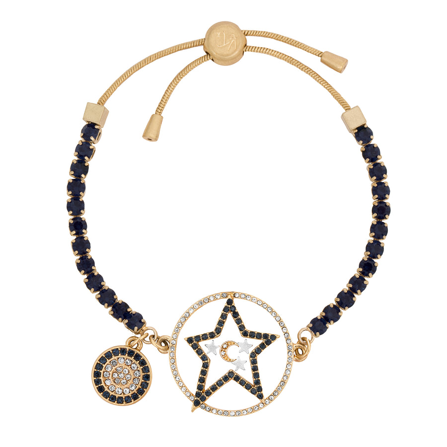 Kate Thornton 'Star and Moon' Midnight Blue and Gold Bracelet