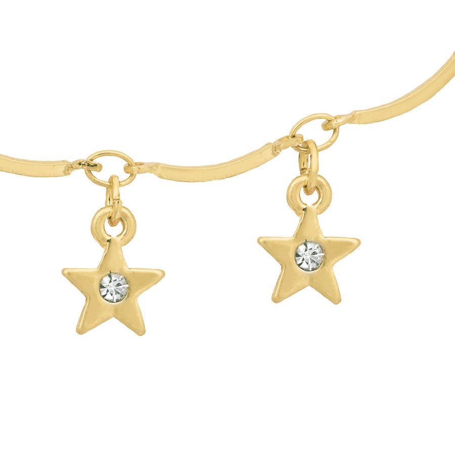 Kate Thornton 'Dancing Stars' Gold Necklace and Bracelet Set