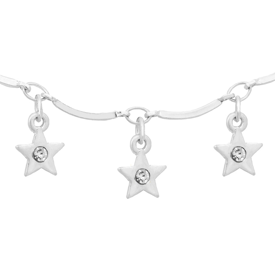 Kate Thornton 'Dancing Stars' Silver Necklace and Bracelet Set