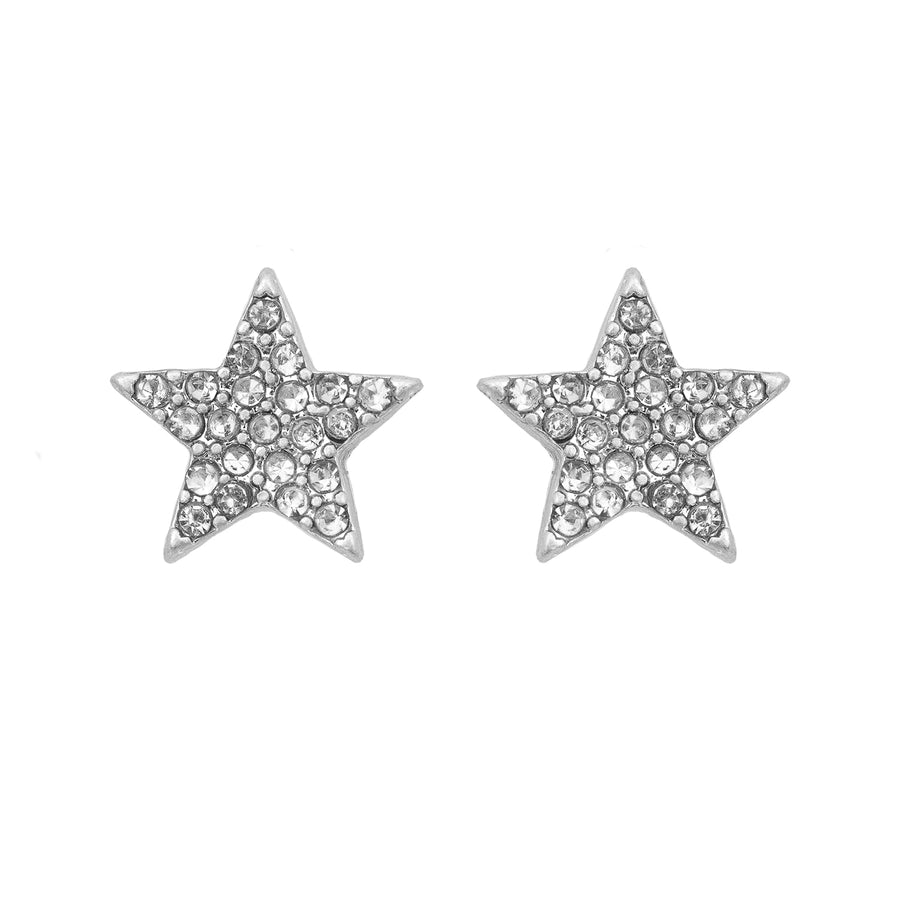 Kate Thornton 'Sparkling Stars' Silver Multiway Earrings
