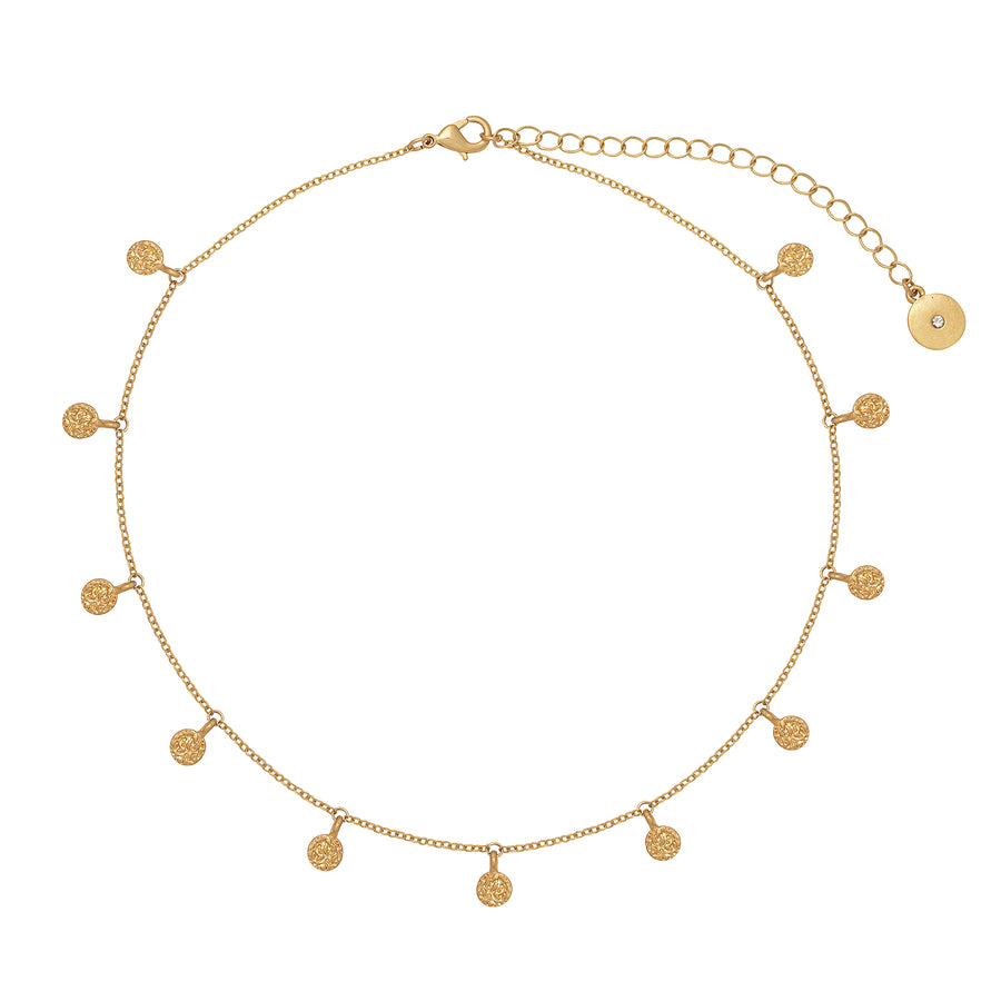 Kate Thornton Gold Boho Choker Necklace