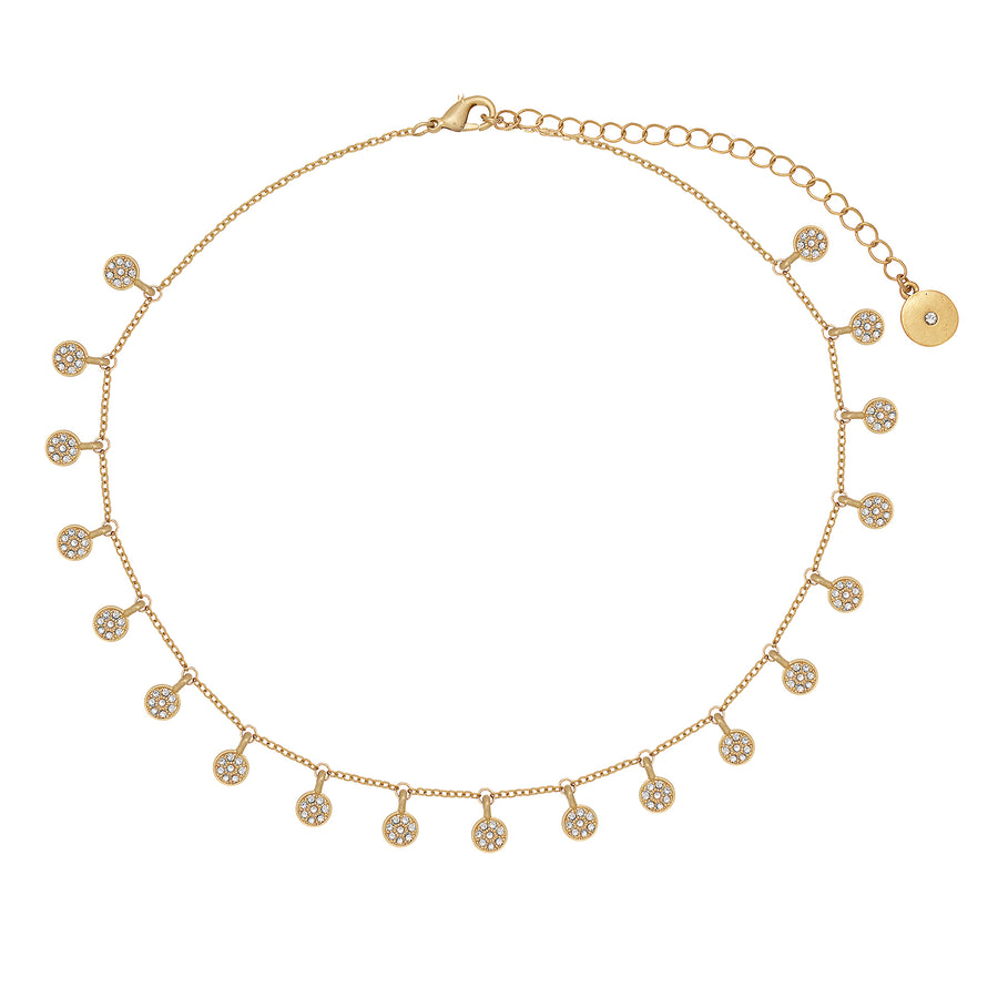 Kate Thornton Gold Pavé Boho Choker Necklace