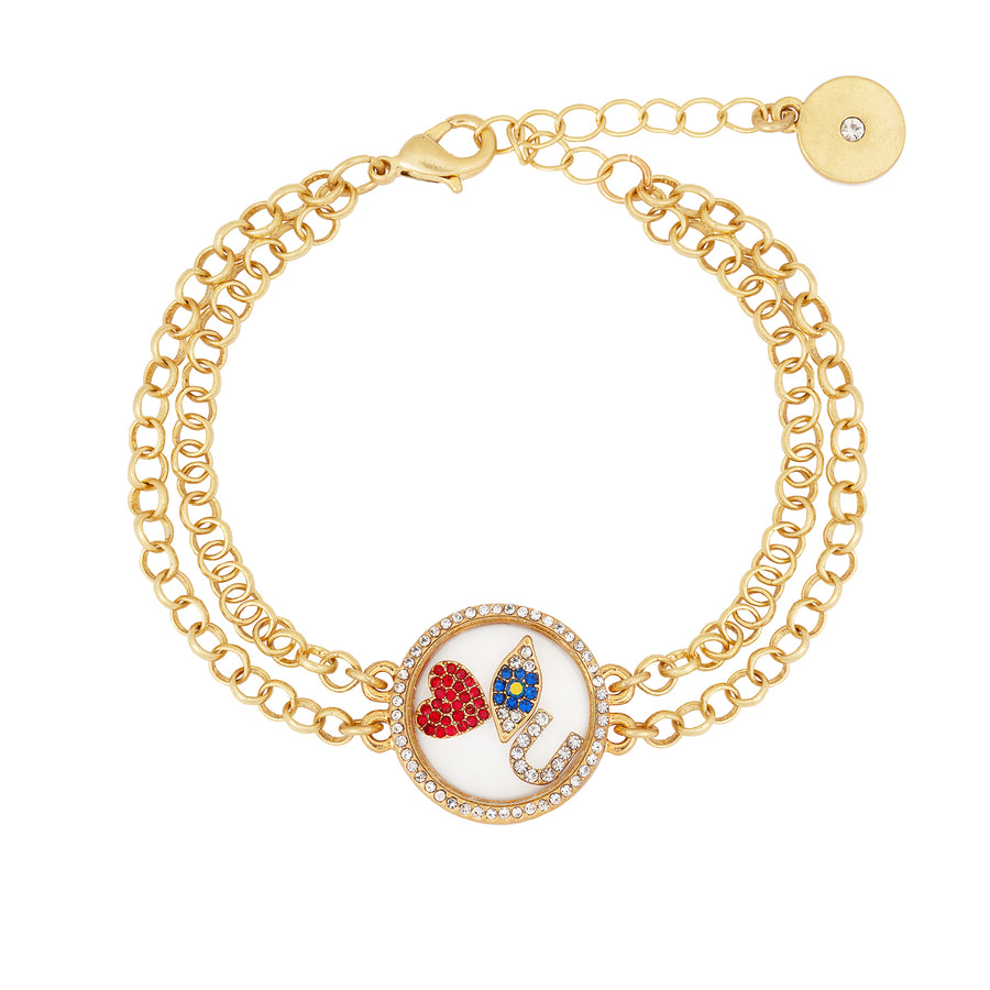 Kate Thornton 'I Love You' Floating Locket Bracelet