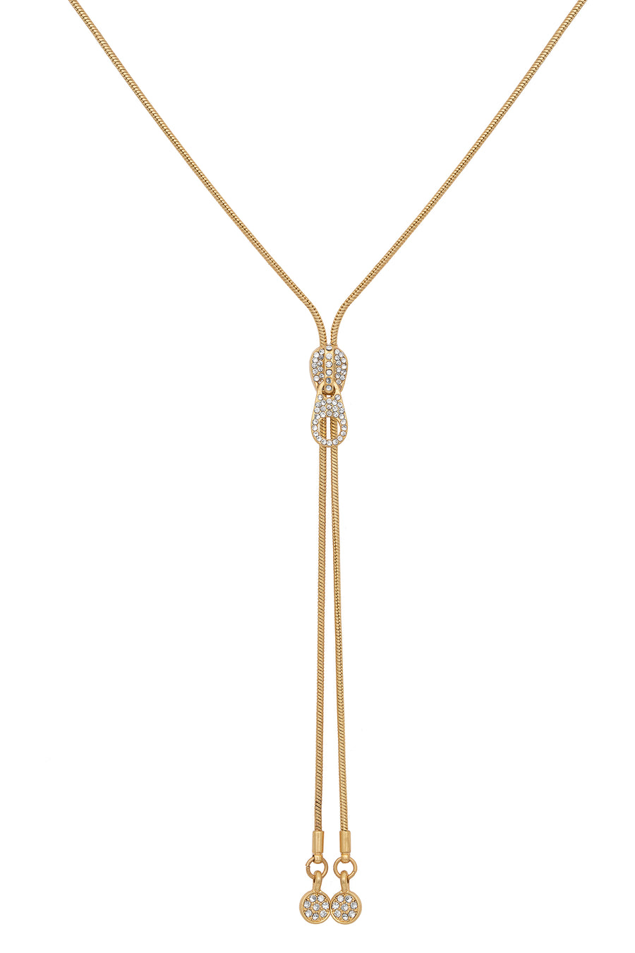 Kate Thornton Gold Zip Long Chain Necklace
