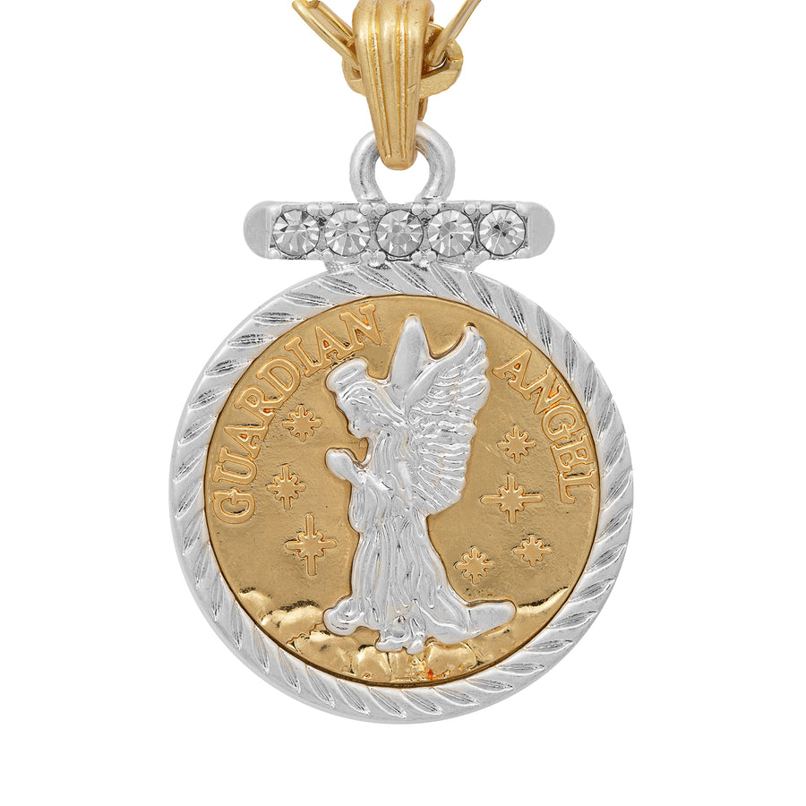 Kate Thornton 'Guardian Angel' Gold and Silver Locket Necklace