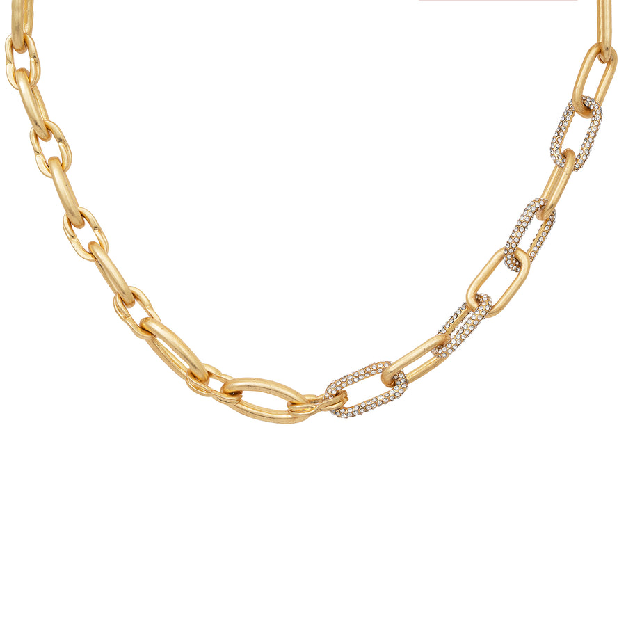 Kate Thornton Gold Chunky Link Chain Necklace