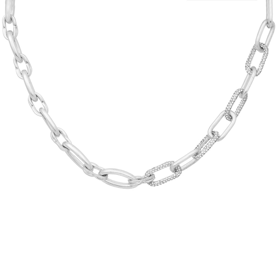 Kate Thornton Silver Chunky Link Chain Necklace