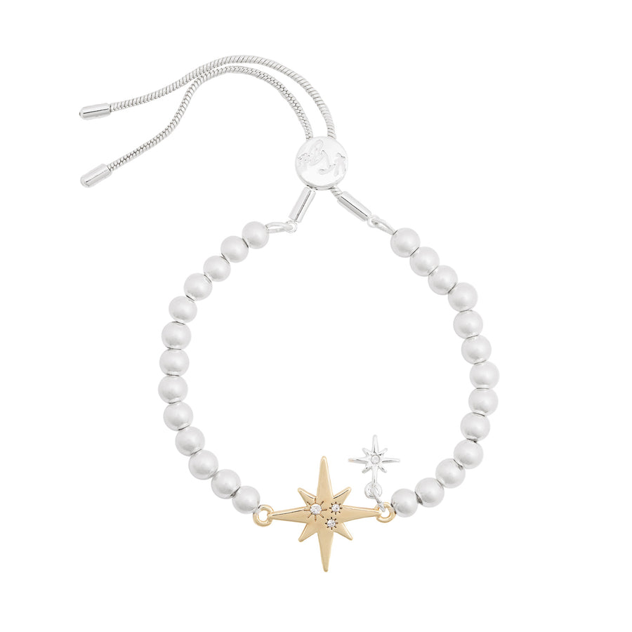 Kate Thornton Silver and Gold North Star Friendship Bracelet