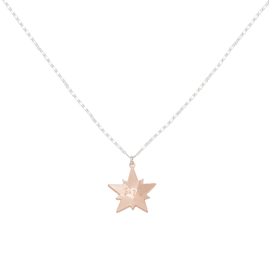 Kate Thornton Rose Gold Crystal Superstar Pendant Necklace