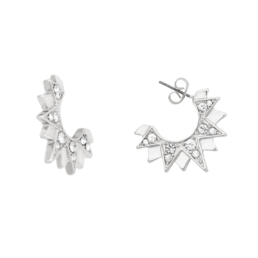 KTxBibi Silver Artist Art Deco Earrings