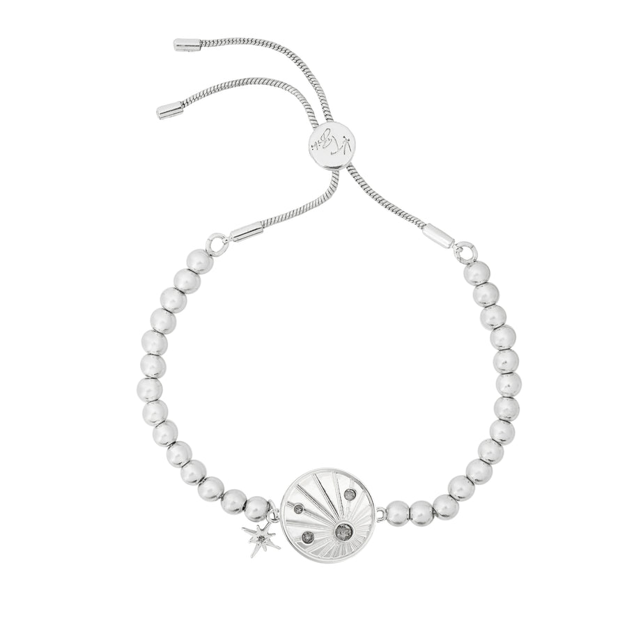 Kate Thornton Silver Sunray Friendship Bracelet with Be Kind Affirmation