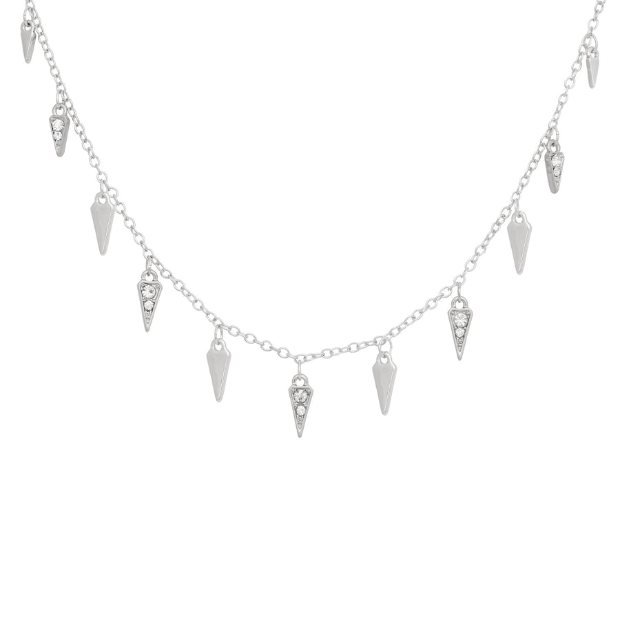Kate Thornton Silver Arrowhead Necklace