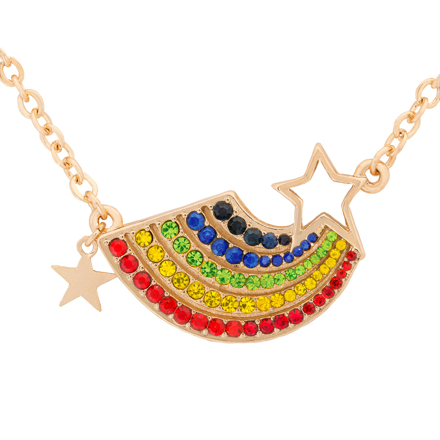 Kate Thornton 'Somewhere Over The Rainbow' gold layered necklace set