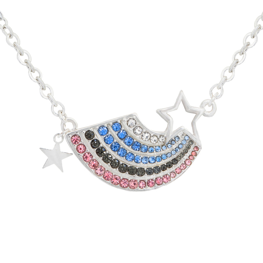 Kate Thornton  'Somewhere Over The Rainbow'  silver layered necklace set