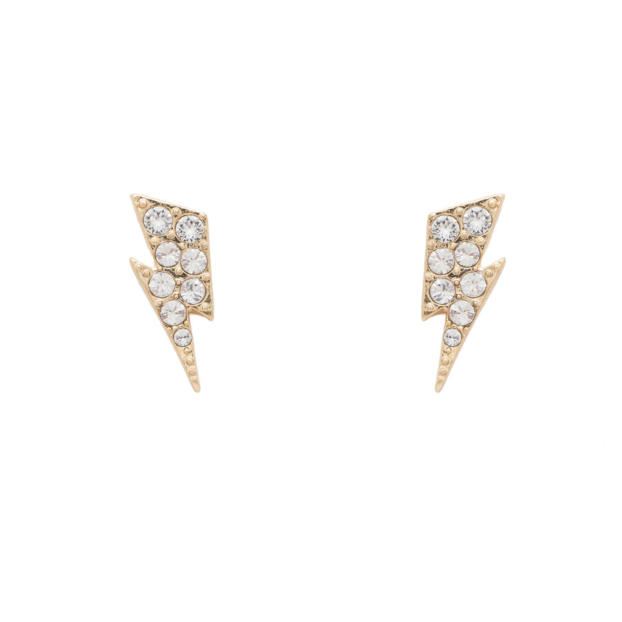 KTxBibi Purpose Pavé Crystal Lightening Bolt Studs