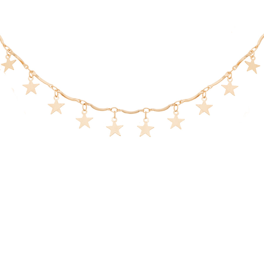 Kate Thornton Dancing Star Necklace in Gold