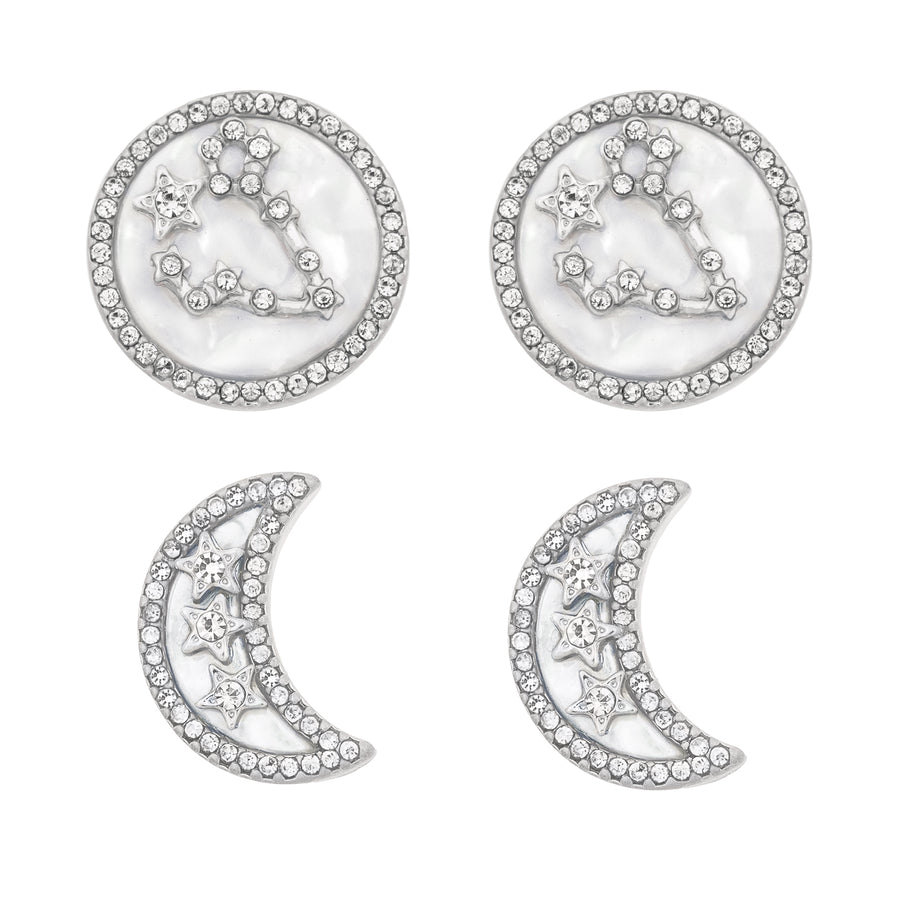 Kate Thornton Mismatched Earrings Constellation Star and Moon