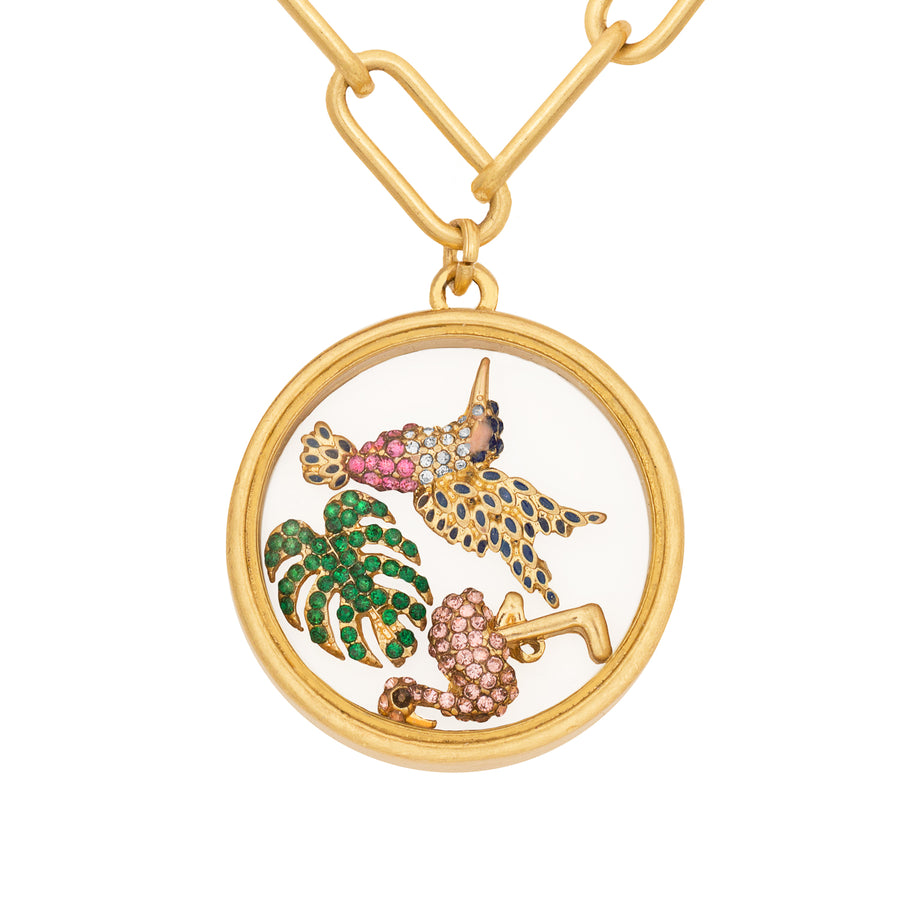 Kate Thornton Gold 'Summer Dreaming' Floating Charm Locket