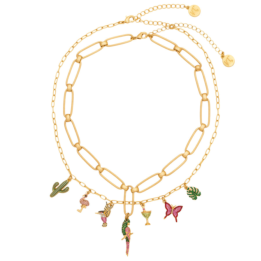 Kate Thornton Summer Paradise Tropical Charm Necklace