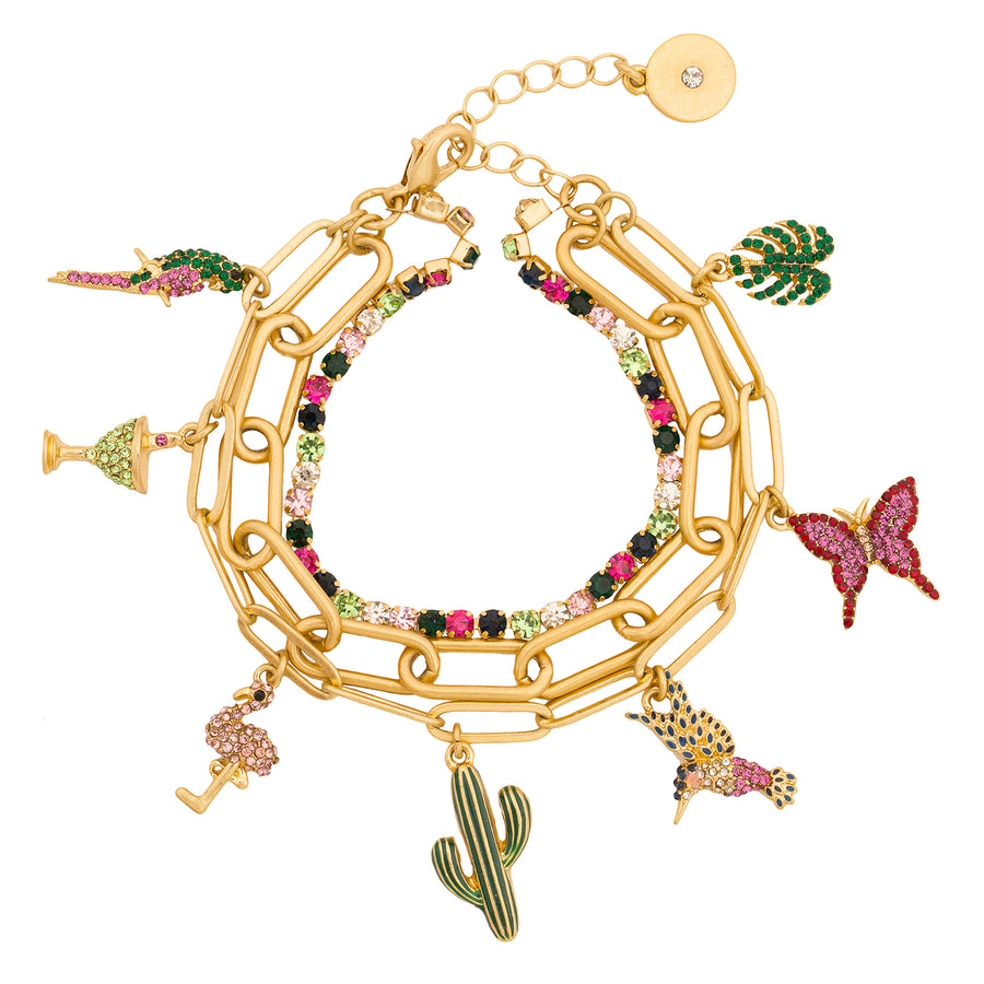 Kate Thornton Summer Paradise Tropical Charm Bracelet