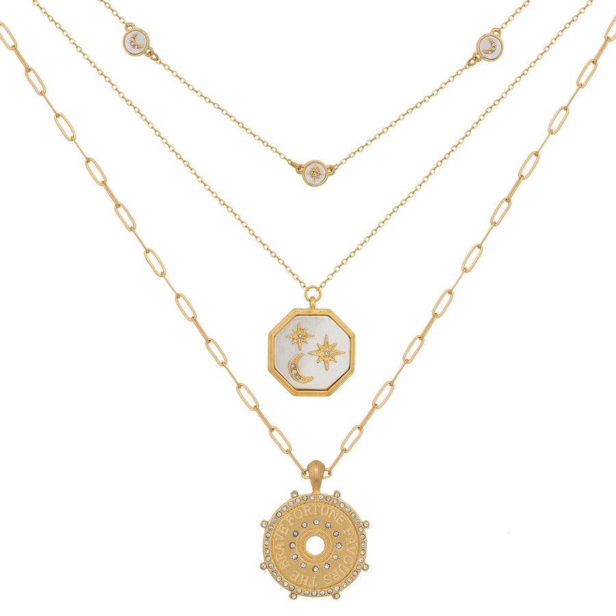 Kate Thornton Triple Row 'Fortune' Pendant Set