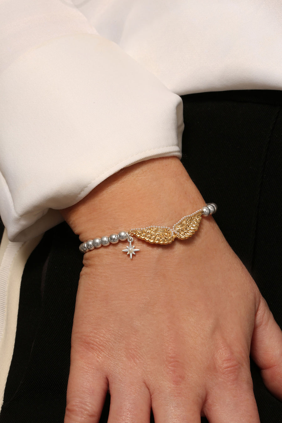 Kate Thornton Guardian Angel Friendship Bracelet with Pearl