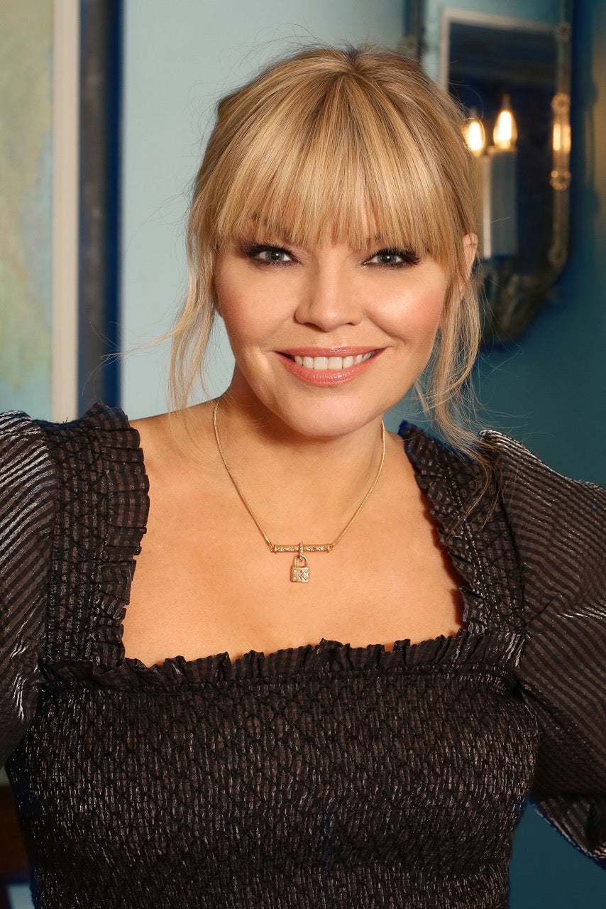 Kate Thornton Gold Padlock Necklace
