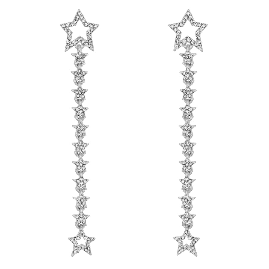 Kate Thornton Silver 'Starlight' Multiway Earrings