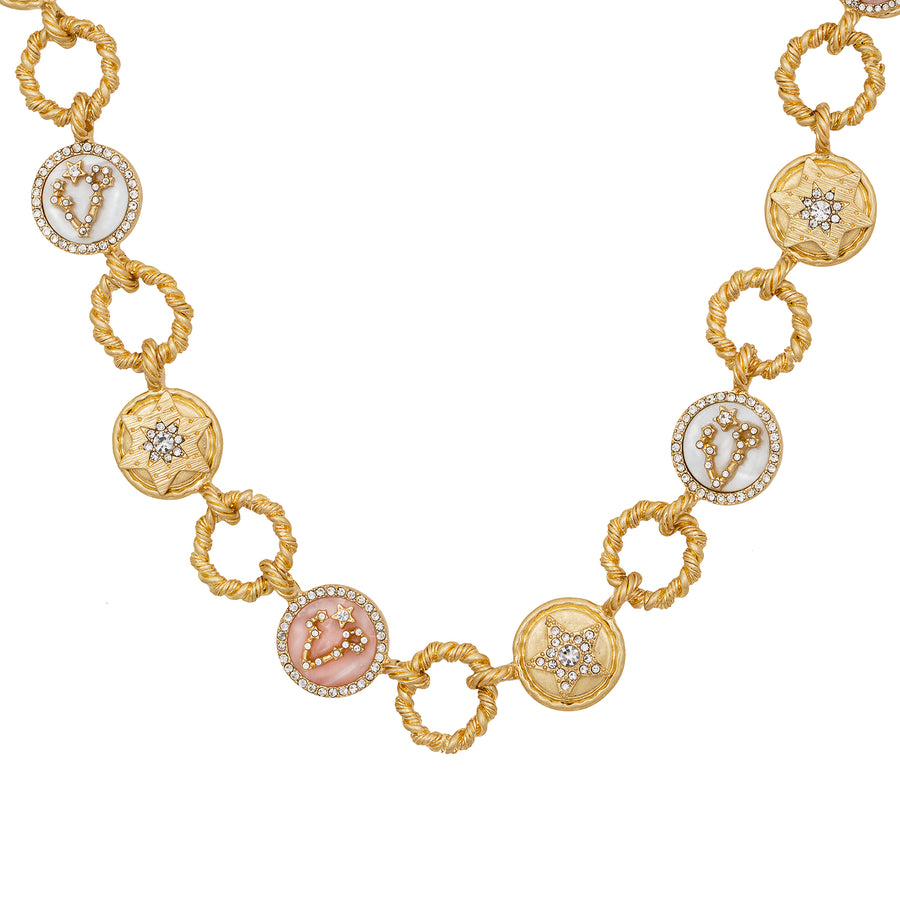 Kate Thornton Night Sky Gold Celestial Charm Necklace