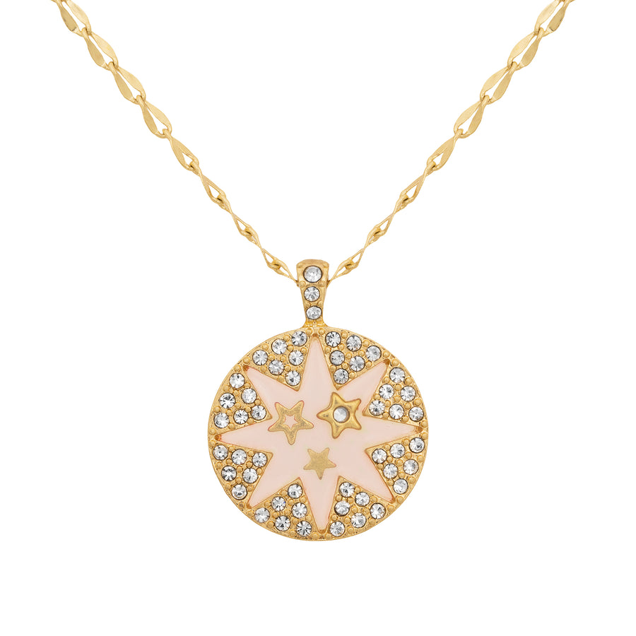 Kate Thornton Gold Double Row Star Necklace