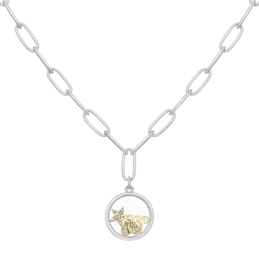 Kate Thornton Silver 'Celestial Love' Floating Locket Necklace